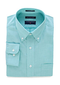 Saddlebred Classic-Fit Long Sleeve Sold Easy Care Oxford Dress Shirt