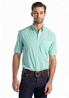 Saddlebred® Big & Tall Short Sleeve Gingham Easy Care Woven Shirt