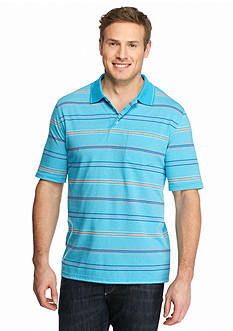 Saddlebred® Big & Tall Short Sleeve Striped Jersey Polo Shirt