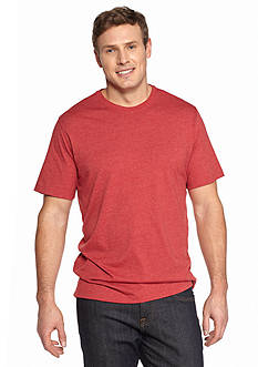 Saddlebred® Big & Tall Short Sleeve Heather No Pocket T-Shirt