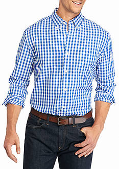Saddlebred Big & Tall Long Sleeve Easy Care Gingham Shirt