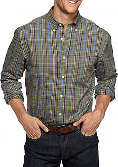 Saddlebred® Big & Tall Long Sleeve Plaid Easy Care Shirt