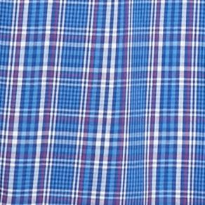 Mens Big and Tall Casual Shirts: Check & Plaid: Blue/Pink Saddlebred Big & Tall Long Sleeve Easy Care Plaid Shirt