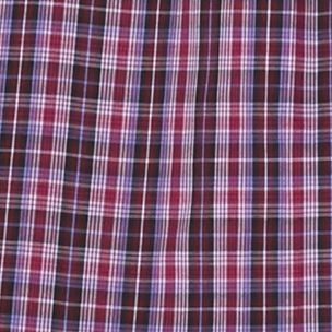 Mens Big and Tall Casual Shirts: Check & Plaid: Plum/Black Saddlebred Big & Tall Long Sleeve Easy Care Plaid Shirt