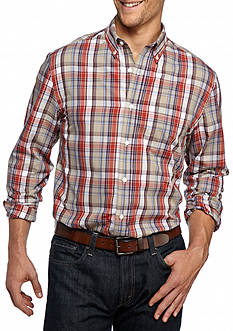 Saddlebred Big & Tall Long Sleeve Glen Plaid Easy Care Shirt