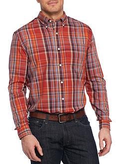 Saddlebred Big & Tall Long Sleeve Glen Plaid Easy Care Shirt