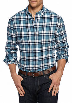 Saddlebred Big & Tall Long Sleeve Flannel Button Down Shirt