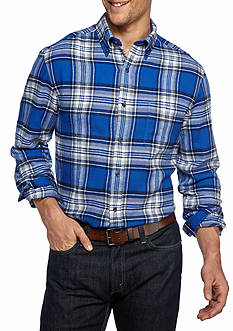 Saddlebred® Big & Tall Long Sleeve Flannel Button Down Shirt