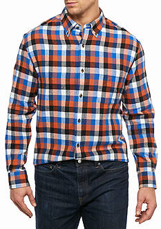 Saddlebred® Big & Tall Long Sleeve Flannel Shirt