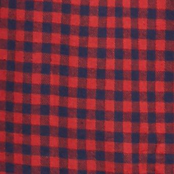 Big & Tall: Saddlebred: Red/Navy Gingham Saddlebred Big & Tall Long Sleeve Flannel Shirt