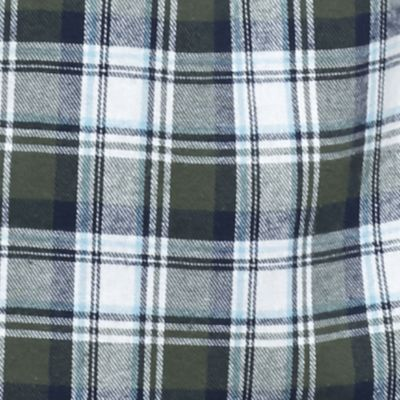 Big & Tall: Flannel Sale: Olive/Navy Saddlebred Big & Tall Long Sleeve Flannel Shirt