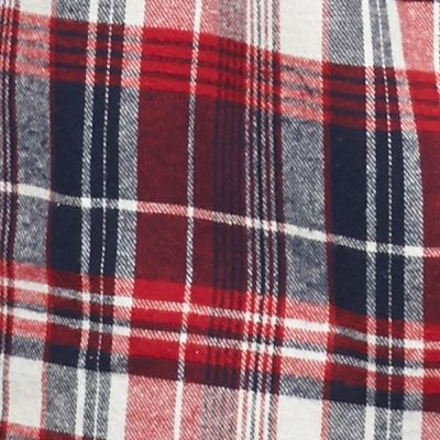 Big & Tall: Flannel Sale: Red/Navy/White Saddlebred Big & Tall Long Sleeve Flannel Shirt