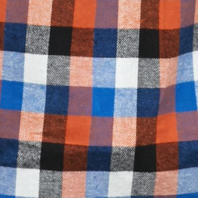 Big & Tall: Cold Weather Shop Sale: Rust Check Saddlebred Big & Tall Long Sleeve Flannel Shirt