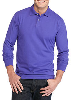 Saddlebred Big & Tall Long Sleeve Sueded Polo Shirt