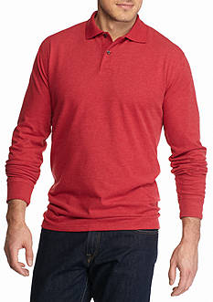 Saddlebred® Big & Tall Long Sleeve Sueded Polo Shirt