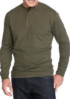 Saddlebred Big & Tall Long Sleeve Jersey Henley Shirt