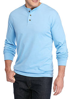 Saddlebred Big & Tall Long Sleeve Jersey Henley Shirt