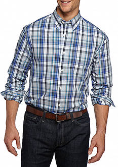 Saddlebred Big & Tall Long Sleeve Plaid Easy Care Shirt