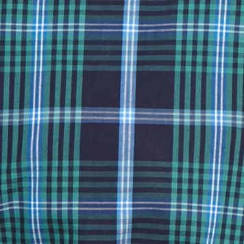 Big & Tall: Saddlebred Casual Shirts: Navy Green Saddlebred Big & Tall Long Sleeve Plaid Easy Care Shirt
