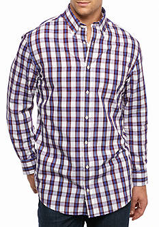 Saddlebred Big & Tall Long Sleeve Easy Care Plaid Shirt