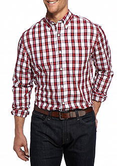 Saddlebred® Big & Tall Long Sleeve Easy Care Plaid Shirt
