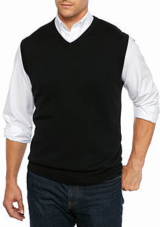 Saddlebred Big & Tall Solid Jersey Sweater Vest