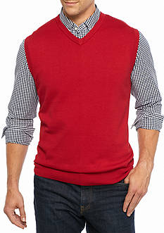 Saddlebred® Big & Tall Solid Jersey Sweater Vest