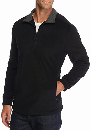 Saddlebred® Big & Tall  1/4 Zip Fleece Pullover