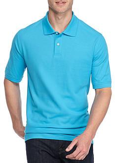 Saddlebred Big & Tall Short Sleeve Solid Pique Polo Shirt