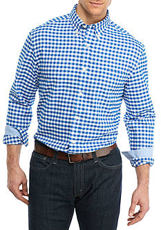 Saddlebred® Big & Tall Long Sleeve Gingham Oxford