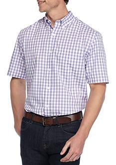 Saddlebred Big &Tall Short Sleeve Easy Care Mini Gingham Shirt
