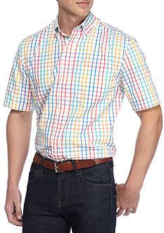 Saddlebred Big & Tall Shirt Sleeve Easy Care Plaid Shirt