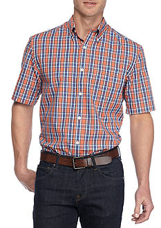 Saddlebred Big & Tall Shirt Sleeve Easy Care Plaid Shirt