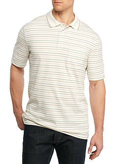 Saddlebred® Big & Tall Short Sleeve Stripe Jersey Polo Shirt