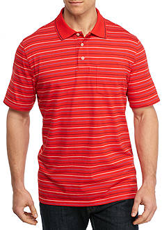 Saddlebred Big & Tall Short Sleeve Stripe Jersey Polo Shirt