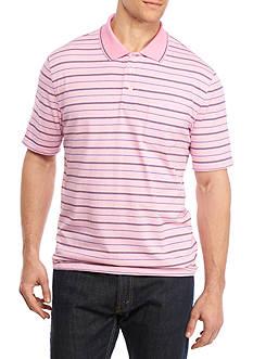 Saddlebred Big & Tall Short Sleeve Stripe Jersey Polo Shirt