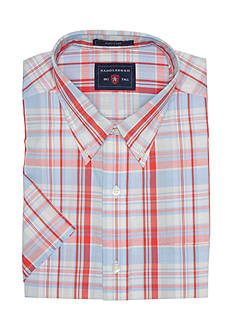 Saddlebred Big & Tall Short Sleeve Plaid Shirt