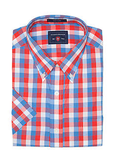 Saddlebred® Big & Tall Easy Care Short Sleeve Plaid Shirt