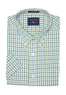 Saddlebred Big & Tall Easy Care Short Sleeve Plaid Shirt