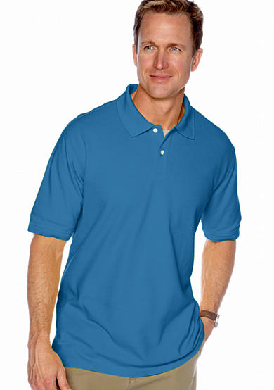 Saddlebred® Solid Pique Polo Shirt