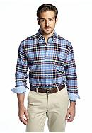 Saddlebred® Long Sleeve Vintage Oxford Plaid