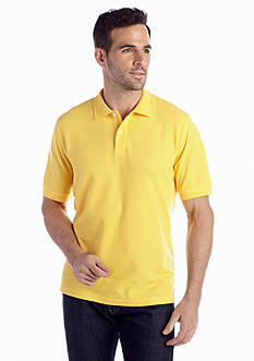 Saddlebred® Short Sleeve Solid Pique Polo