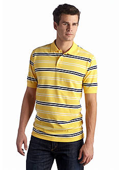 Saddlebred® Short Sleeve Multi Stripe Pique Polo