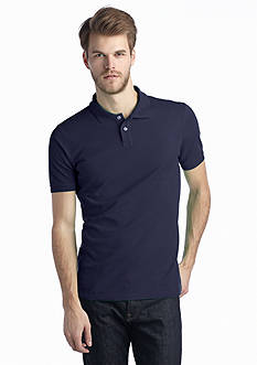 Saddlebred  1888 Short Sleeve Tailored Fit Solid Pique Polo