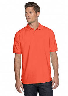Saddlebred® Short Sleeve Solid Pique Polo Shirt