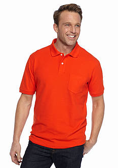 Saddlebred® Short Sleeve Pocket Pique Polo Shirt