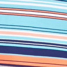 Men: Stripes Sale: Turquoise/Orange Saddlebred Short Sleeve Stripe Pique Polo Shirt