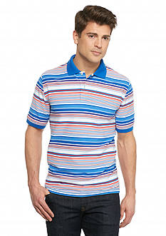 Saddlebred® Short Sleeve Stripe Pique Polo Shirt