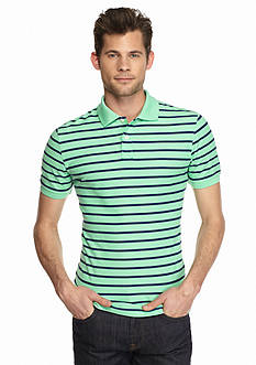 Saddlebred® 1888 Tailored Fit Stripe Pique Polo Shirt