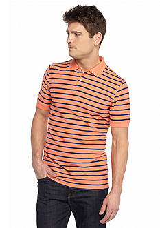 Saddlebred 1888 Tailored Fit Stripe Pique Polo Shirt
